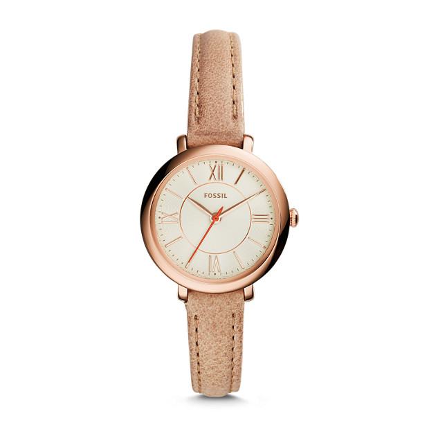 Jacqueline Mini Sand Leather Watch