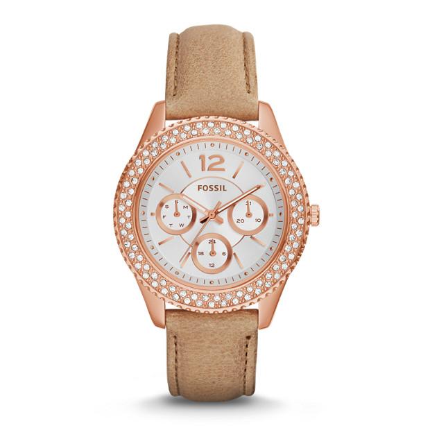 Stella Multifunction Sand Leather Watch