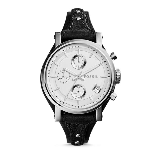 Original Boyfriend Chronograph Black Leather Watch