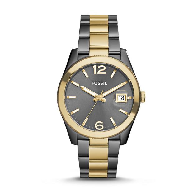 Perfect Boyfriend Smoke & Gold-Tone Stainless Steel Watch