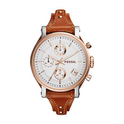 Original Boyfriend Chronograph Cedar Leather Watch