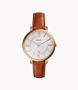 Jacqueline Cedar Leather Watch