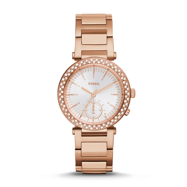 Urban Traveler Multifunction Rose-Tone Gold-Tone Stainless Steel Watch