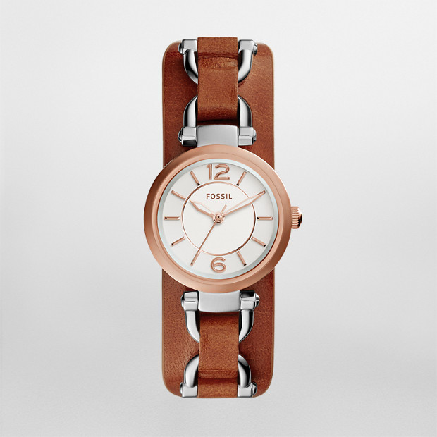 Georgia Artisan Cedar Leather Watch