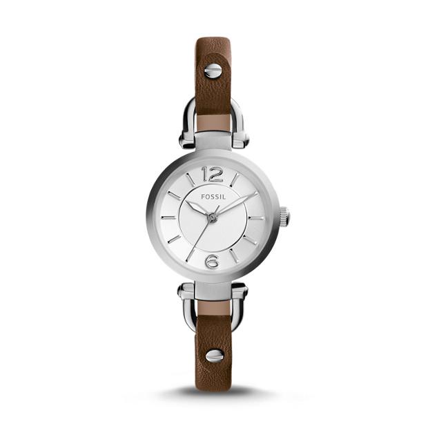 Georgia Brown Leather Watch