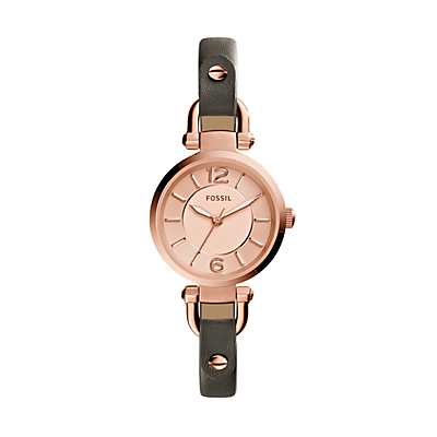 Georgia Grey Leather Watch