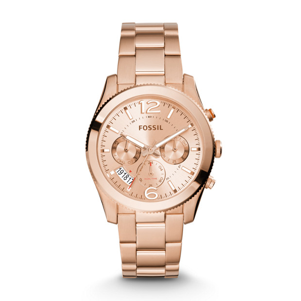 Perfect Boyfriend Multifunction Rose-Tone Stainless Steel Watch
