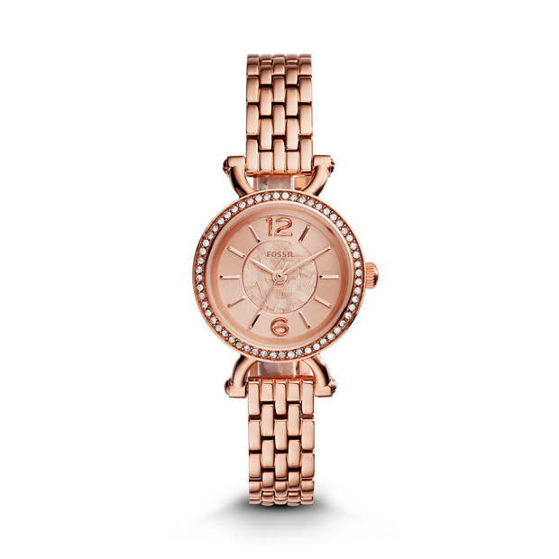 Georgia Cordell Rose-Tone Stainless Steel Watch