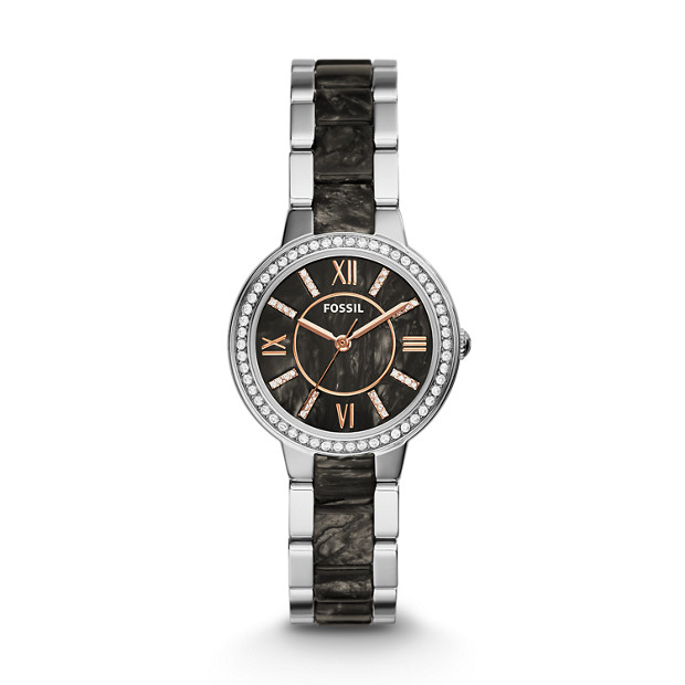Virginia Stainless Steel and Acetate Watch