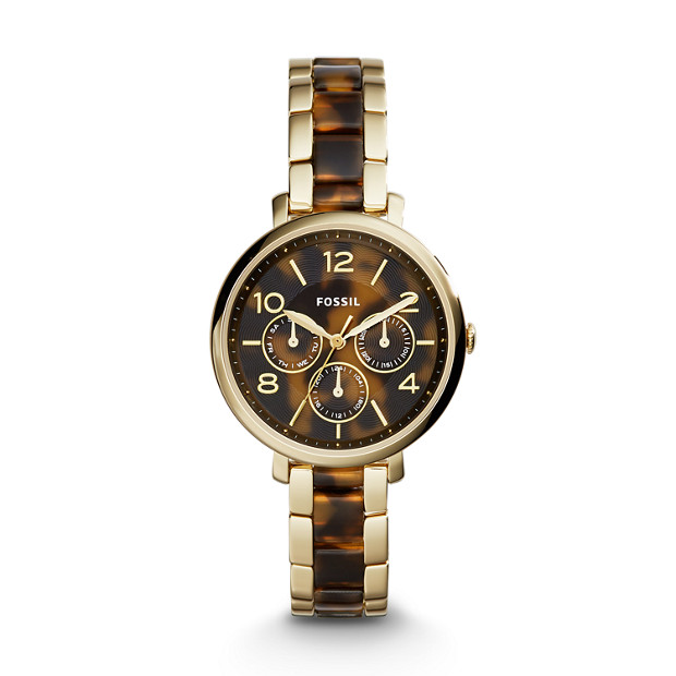 Jacqueline Multifunction Gold-Tone Stainless Steel and Acetate Watch