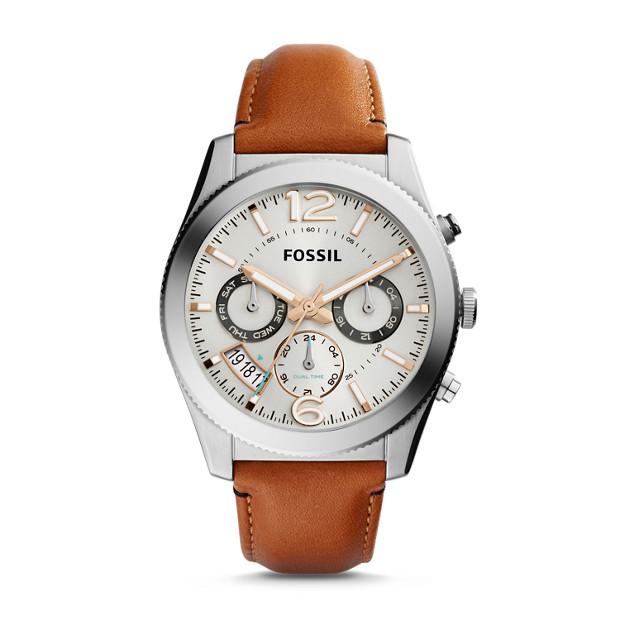 Perfect Boyfriend Multifunction Dark Brown Leather Watch