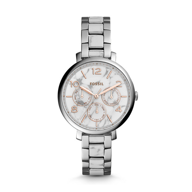Jacqueline Multifunction White Stainless Steel Watch