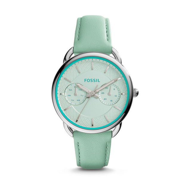 Tailor Multifunction Sea Glass Leather Watch