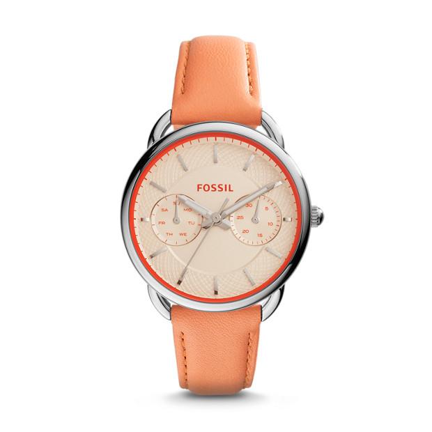Tailor Multifunction Papaya Leather Watch