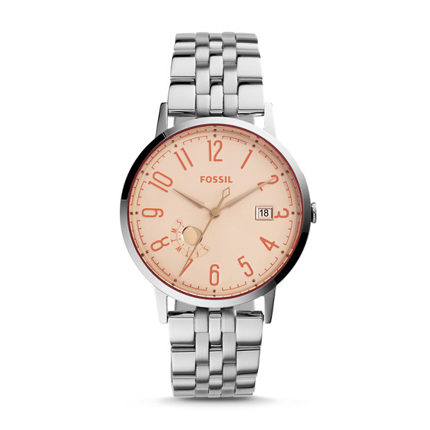 Vintage Muse Three-Hand Date Stainless Steel Watch
