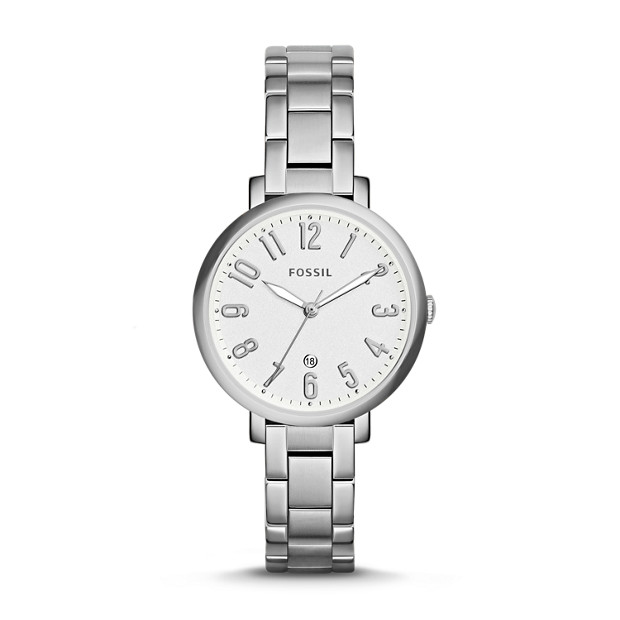 Jacqueline Date Stainless Steel Watch