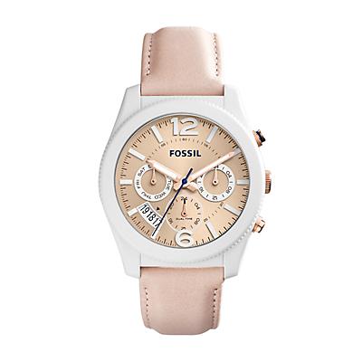 Perfect Boyfriend Sport Multifunction Blush Glaze Leather Watch