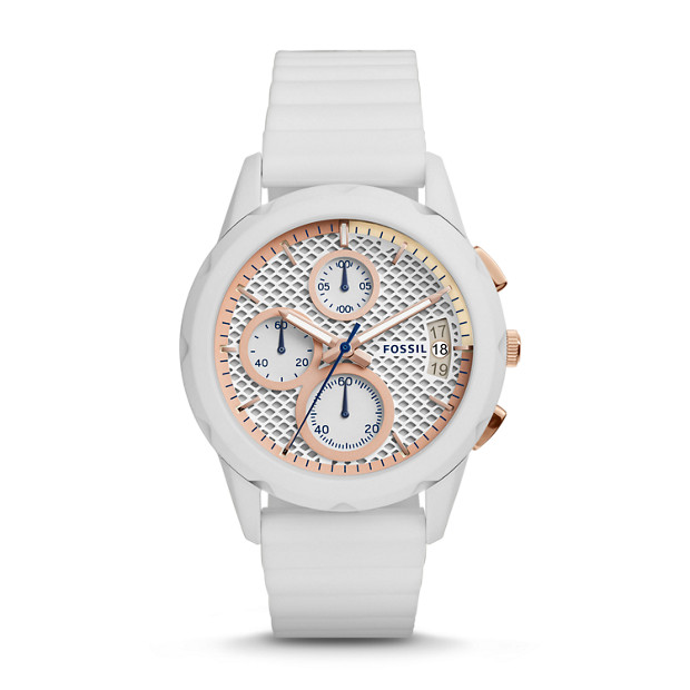 Modern Pursuit Chronograph White Silicone Watch