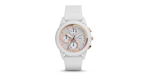 Modern Pursuit Chronograph White Silicone Watch - Fossil -