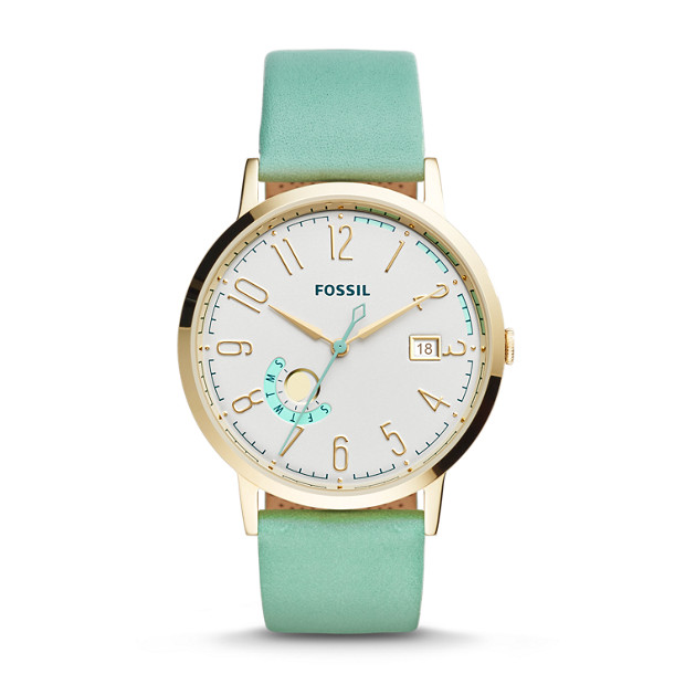Vintage Muse Green Leather Watch