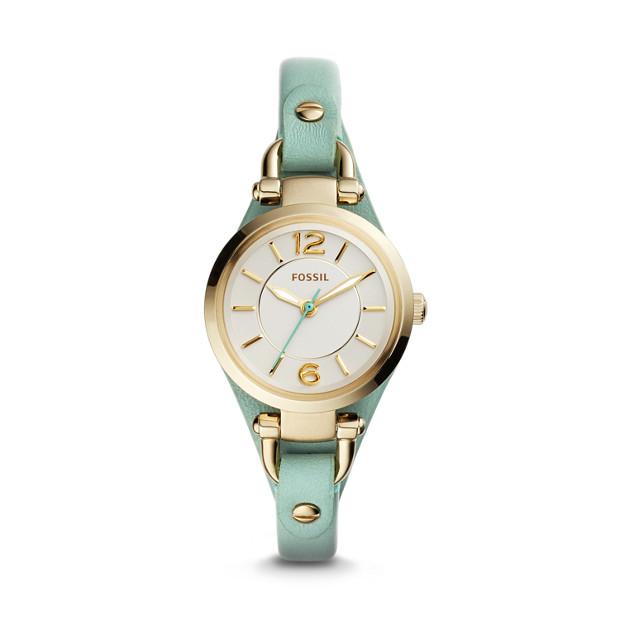 Georgia Mini Green Leather Watch