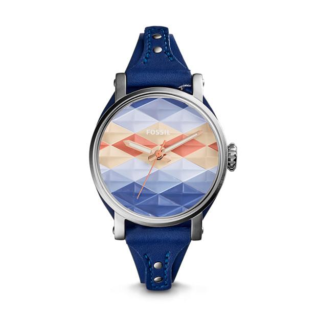 Original Boyfriend Sport Indigo-Dyed Leather Watch