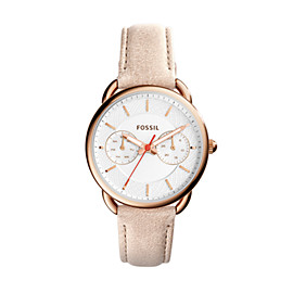 Tailor Multifunction Light Brown Leather Watch