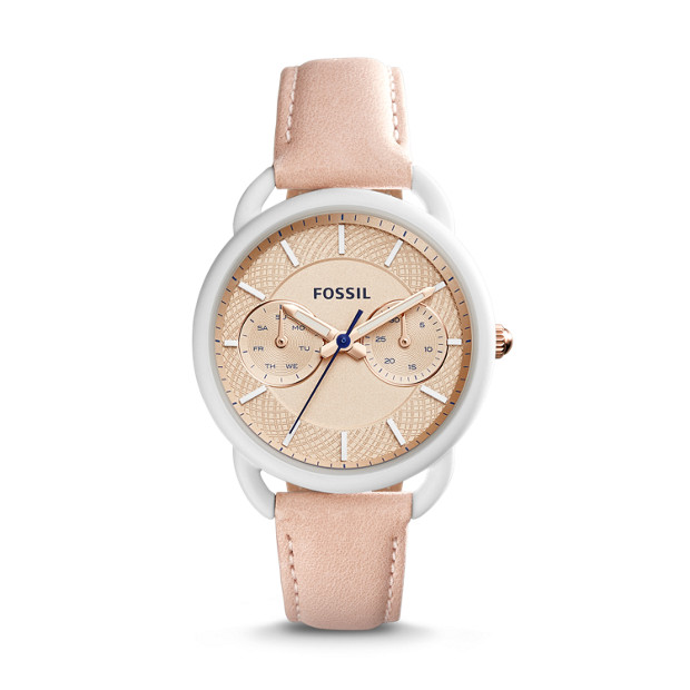 Tailor Multifunction Blush Leather Watch