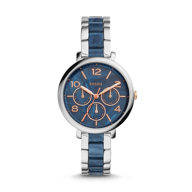 Jacqueline Multifunction Stainless Steel and Acetate Watch