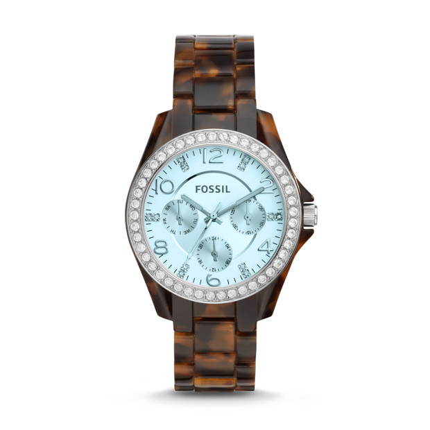 Riley Multifunction Tortoise Acetate Watch