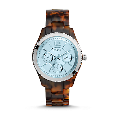 Stella Multifunction Tortoise Acetate Watch