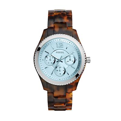 Stella Multifunction Tortoise Acetate Watch
