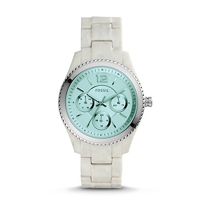 Stella Multifunction Shimmer Horn Acetate Watch
