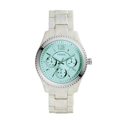 Stella Multifunction Shimmer Horn Acetate Watch