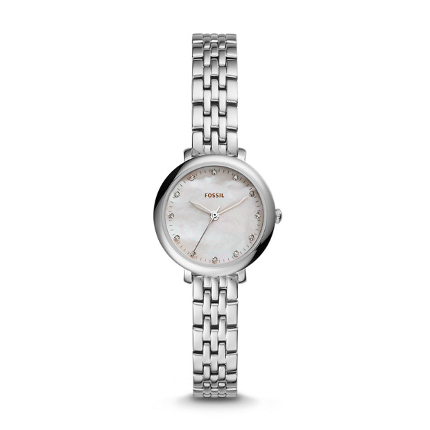 Jacqueline Mini Three-Hand Stainless Steel Watch