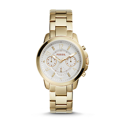 Gwynn Chronograph Gold-Tone Stainless Steel Watch