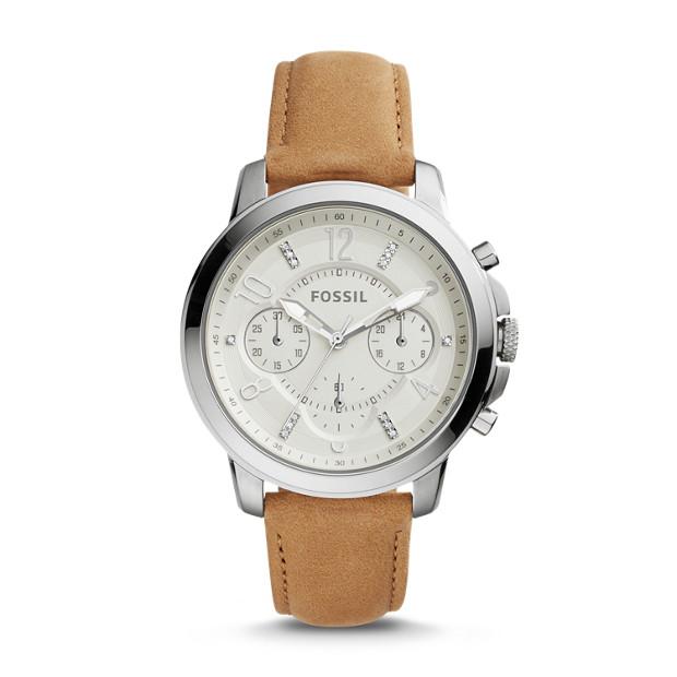 Damenuhr Gwynn - Chronograph - Leder - Hellbraun