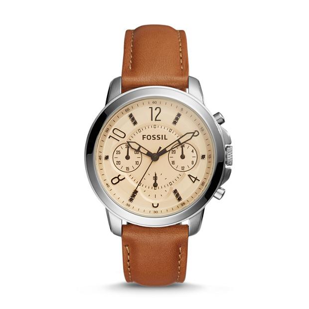 Gwynn Chronograph Dark Brown Leather Watch