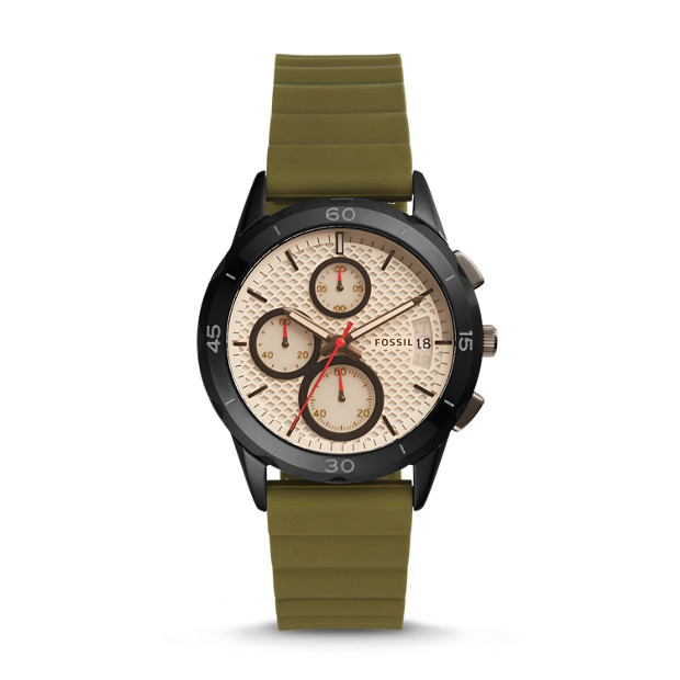 Modern Pursuit Chronograph Canteen Silicone Watch