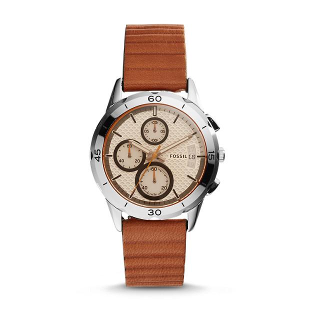 Modern Pursuit Chronograph Dark Brown Leather Watch