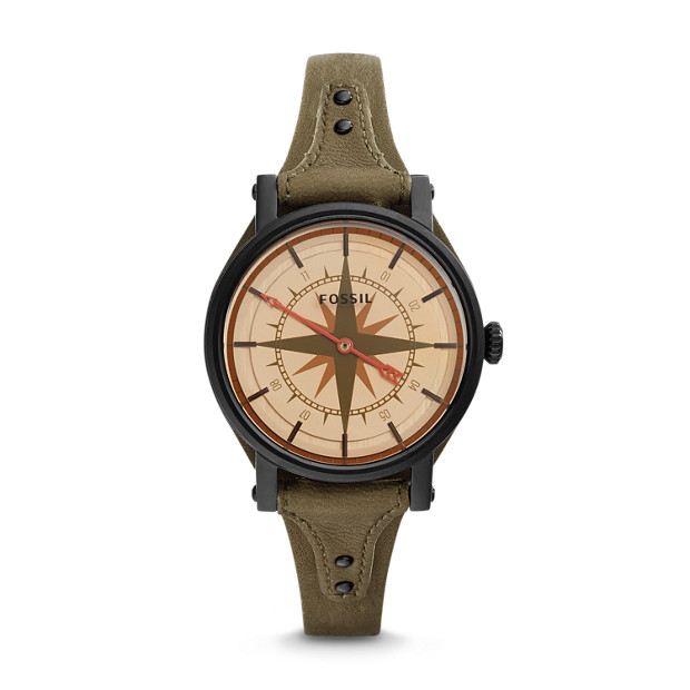 Original Boyfriend Quartz One-Hand 12-Hour Canteen Leather Watch