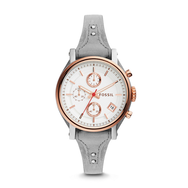 Original Boyfriend Sport Chronograph Iron Leather Watch