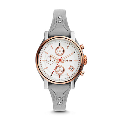 Original Boyfriend Sport Chronograph Iron Leather Watch