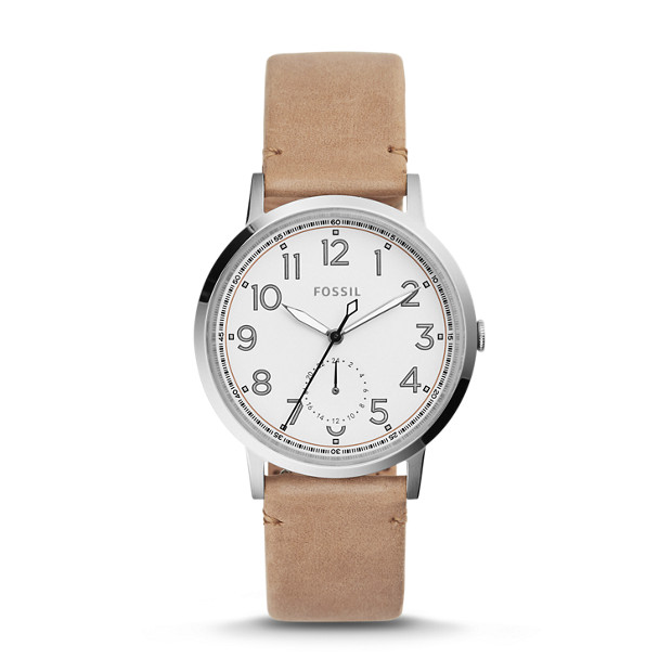 Everyday Muse Multifunction Light Brown Leather Watch