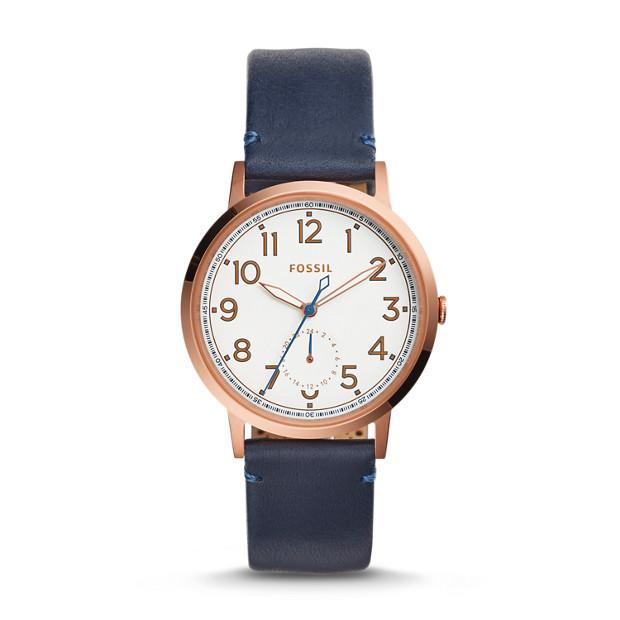 Everyday Muse Multifunction Indigo-Dyed Leather Watch