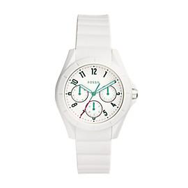 Damenuhr Poptastic Sport - Multifunktion - Silikon - Weiß