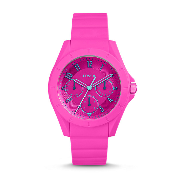 Poptastic Sport Multifunction Pink Silicone Watch