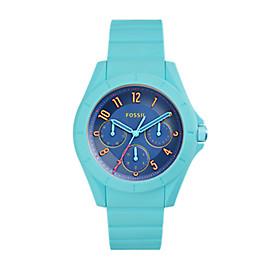 Damenuhr Poptastic Sport - Multifunktion - Silikon - Blau