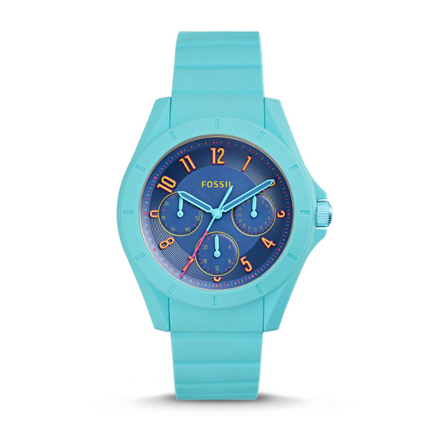 Poptastic Sport Multifunction Blue Silicone Watch