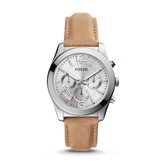 Perfect Boyfriend Multifunction Light Brown Leather Watch